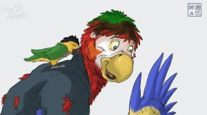 Becoming a Parrot by Moofers-Mufa