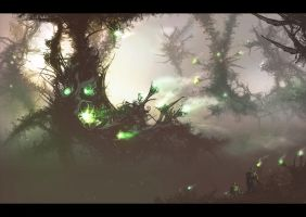 Alien Forest by Skyrion
