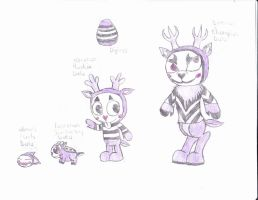 htf digimon mime by anolelightdragon