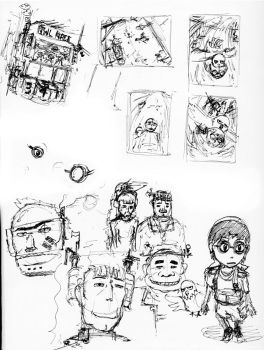 Sketches 190410 by oneblackpaper