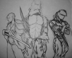 3 Warriors by Jreeds