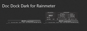 Doc Dock Dark for Rainmeter by DocBerlin77