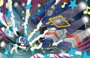 MLP/TF DJ PWN3/Soundwave Lithograph by TonyFleecs