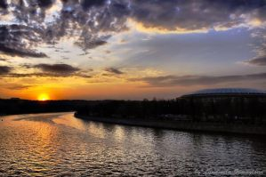 Sunset on Moscow River by Lyutik966