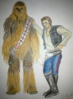 Hans solo and chewy by NerdSmile