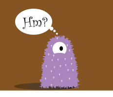 Confused fuzzy monster by ampix0