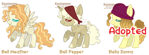 MLP Bell Themed Adopts by Kazziepones