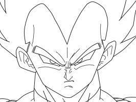 Vegeta_Closeup_WIP by carapau
