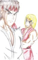 Ryu and Ken-CP by ss2sonic