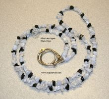 Blue Lace and Onyx Lanyard by leopardwolf