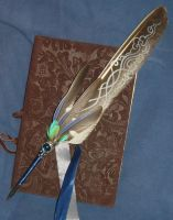 Relic of the Storms - handpainted Featherquill by Ganjamira