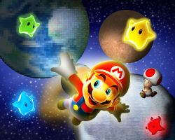 Mario In Space by rodrigoounao
