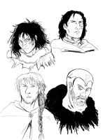 4 Merlins by thenumber42