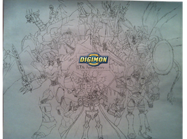 DIGIMON 13TH ANNIVERSARY by Omnimon1996