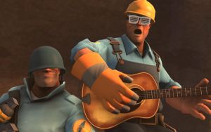 Team Fortress 2 Wallpaper Soldier and Engineer by DUNKMOVIES
