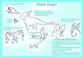 Shark Dog Reference Sheet ::CLOSED SPECIES:: by Ookamiotokoo