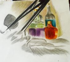 Colored pencil work(work in progress)  by Poplovestar