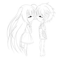 Pocky kiss commission -lines- by AkumaToTenshi