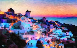 Coast of Athens by Lance-Daniel-Smith