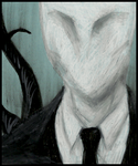 Oil Pastel: Slenderman 2 by Cageyshick05