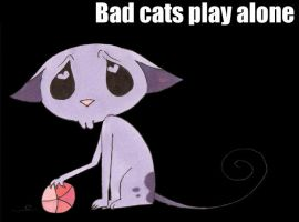 Bad cats play alone by Reegeta
