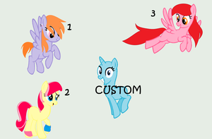 .:CLOSED:. Pony Group Adoptables by PennyDropShop
