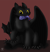 Not So Toothless by drachenlilly