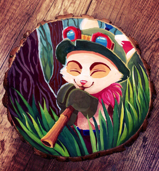 Teemo in the bushes by TheOdekoYma