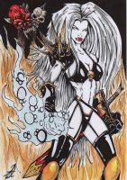 lady death colour by darkartistdomain