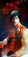 Bruce Lee - Little Dragon by JohnHLynch