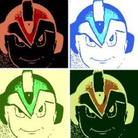 Megaman X 4 Panel Pop Art by DevintheCool