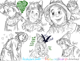 Scarecrow Sketches by RainbowSkittleDrops