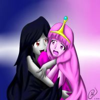 princess bubblegum and marceline by Mr-Dinosaur