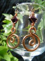 Aluminum Spiral Earrings by BacktoEarthCreations