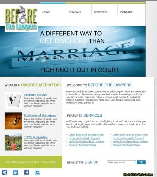 Before the Lawyers website by emackodesigns