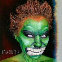 Street Fighter: Blanka facepaint  by sandboxer