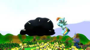 Rainbow Dash and Evil Cloud by EDplus