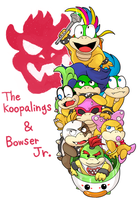 Koopalings and Bowser Jr by hoshikagami