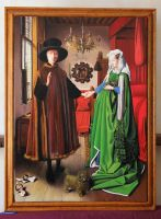 Arnolfini Portrait OIL PAINTING reproduction by marcellobarenghi