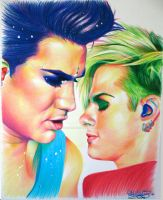 Adam Lambert + Tommy Joe by sunshinerin