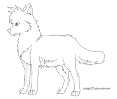 Wolf Template by Fluffy-Bearr