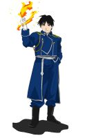 Roy Mustang with flames by Ryuuzaki-L-spy-19