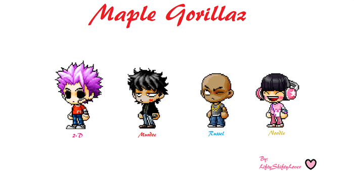 Maple Story Gorillaz :Phase 1: by LiftyShiftyLover