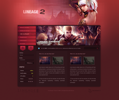 Lineage 2 Red Pixelated by Honya