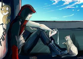 Cats on the roof by Rukinda