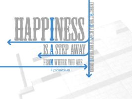 Happiness: A Step Away by itsyouforme
