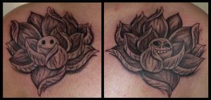 lotus flower tattoo by D3adFrog
