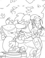 Rayman Heroes Sketch by ToxicThunder