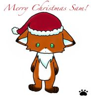 Christmas Fox 1 by Ink--It