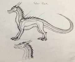 Wings of Fire OC: Solar Flare by Iron-Zing